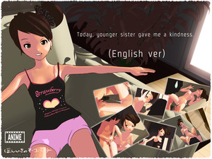 [Strong blow of the cat] Today, younger sister gave me a kindness (English ver)