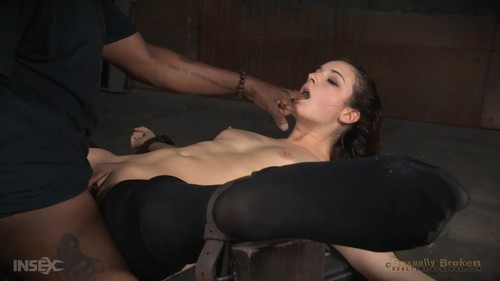 Endza Adair - Rough fucking by BBC in severe splits, bondage and deepthroat