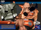 Ultimate 3D Porn Comics - Cops. Part1-Part2
