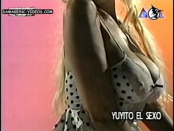 Amalia Yuyito Gonzalez massive cleavage and hard nipple poking
