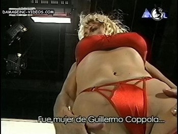 Amalia Yuyito Gonzalez cameltoe in red thong damageinc videos