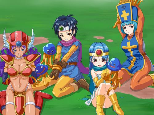 [Uraniwa] Dragon Quest III - Futanari Onna Yuusha Party Tai Monster Gundan (Beastiality Hentai CG)